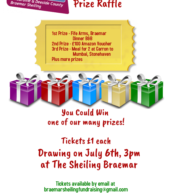 GET YOUR PRIZE DRAW TICKETS NOW!